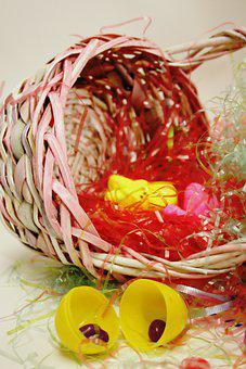Easter Basket, Easter, Decoration, Easter Eggs, Candy