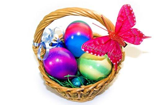 Easter, Osterkorb, Easter Eggs, Easter Nest, Egg