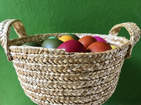 Easter Eggs, Osterkorb, Easter, Easter Nest, Spring