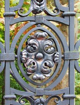 Forged, Iron Fence, Ornament, Item, Partium, Oradea