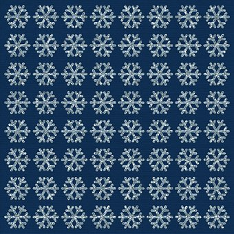 Blue Snowflake, Digital Paper, Glitter, Night, Blue