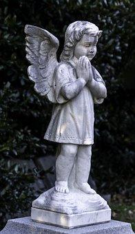 Angel, Cemetery, Monument, Grave, Gravestone, White