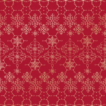 Digital Paper, Gold Foil Christmas, Green, Red