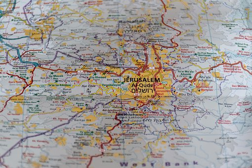 Jerusalem, Israel, Jewish, Jews, Holy, Map, Passover