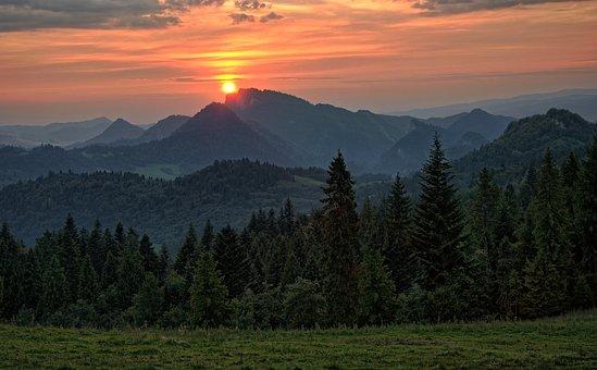 View, Landscape, Twilight, Sunset