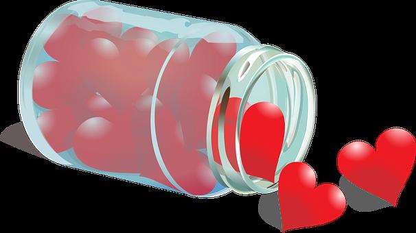 Heart, Emotion, Glass, Love, Symbol