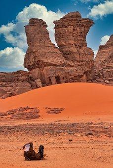 Tassili, Red, Desert, Algeria, Nature