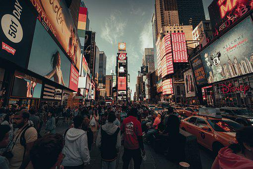 Nyc, New York, Times Square, America, Manhattan, City