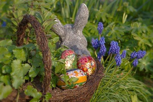 Easter, Easter Bunny, Figure, Easter Eggs, Osterkorb