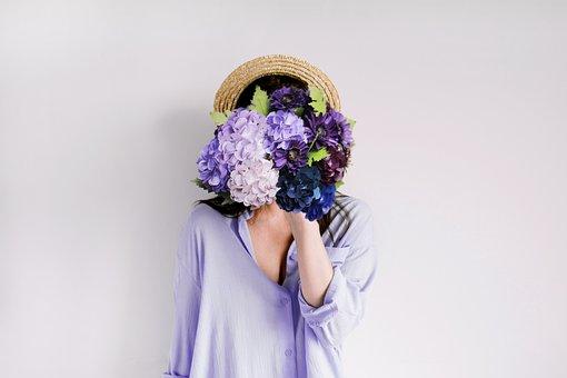 Hydrangea, Paper, Flowers, Purple, Romantic