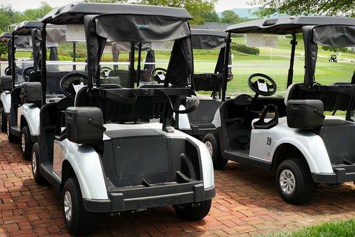 Golf, Golf Cart, Golfing, Put, Putting, Greens, Club