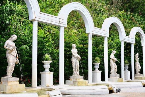 White, Statue, Angel, Grave, Cemetery, Sculpture