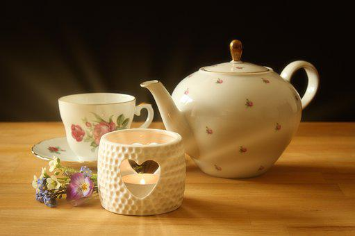 Teapot, Teacup, Tee, Tea Time, Drink, Porcelain