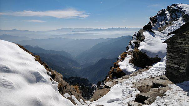 View, Snow, Mountains, Landscape, Winter, Nature, Sky