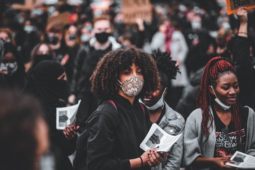 Woman, Mass, Event, Group Of People, Problems, Masks