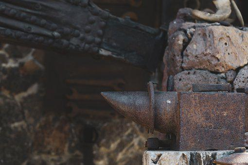 Anvil, Bellows, Work, Smith, Forge, Metal, Industry