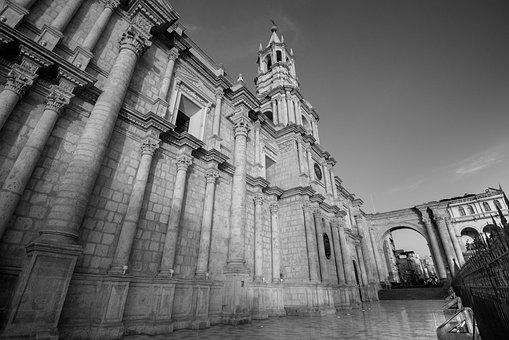 Church, Arequipa, B N, Peru, Cathedral, Religion