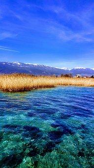 Lake, Landscape, Blue, Color, Sky, Mountain, Snow