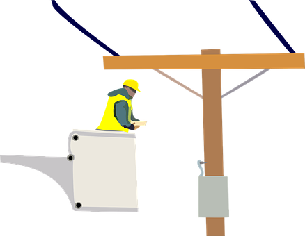 Electrician, Power Lines, Worker, Trade, Electricity