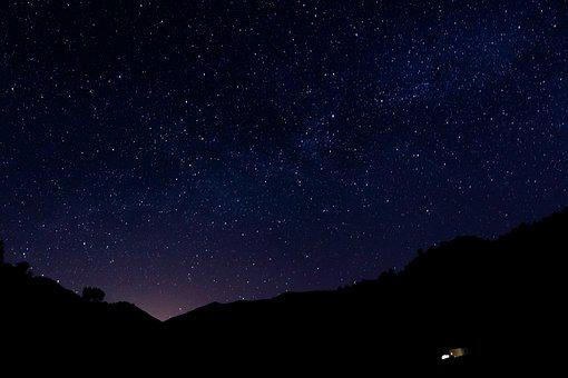 Sky, Night, Space, Galaxy, Star, Moon, Astronomy, Light