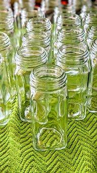 Jars, Spice Jar, Kitchen, Utensils, Green, Glass