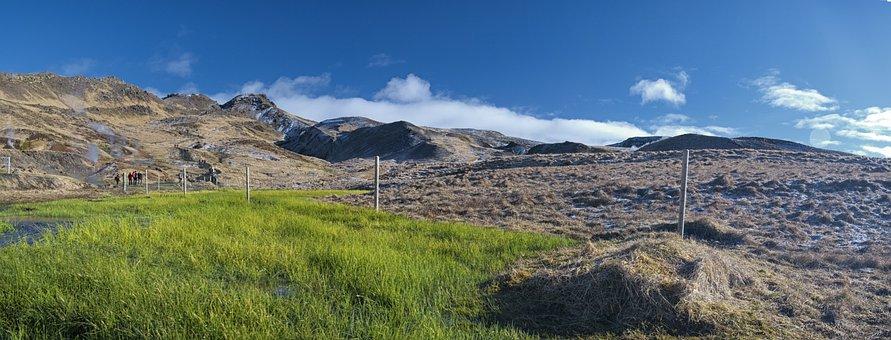 Iceland, Mountain, Hot Water, Geyser, Landscape, Nature