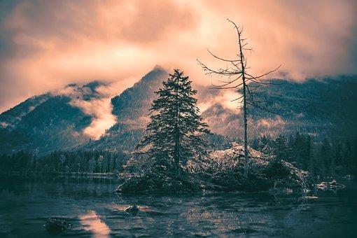 Sunset, Fog, Landscape, Mood, Nature, Sky, Atmosphere