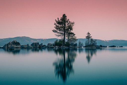 Lake, Water, Landscape, Sky, Tahoe, Blue, Mountain