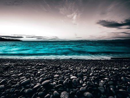 Beach, Pebbles, Side, Sea, Zen, Nature