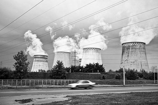Industrial, Pollution, Cooling Towers, Electrical Wire
