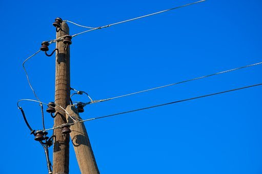 Poles, Wires, Wood, Lines, Power, Electricity, Sky