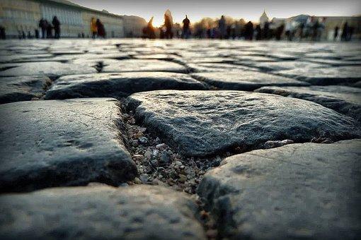 Road, Stones, Cobblestone, Palace Square, Rubble