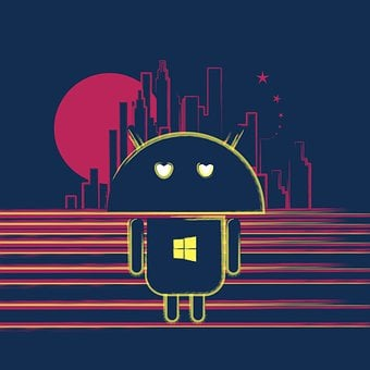 Editorial, Robot Icon, Android Inspired, Apple Eyes