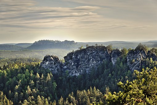 Rock, Cliff, Elbe Sandstone Mountains