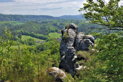 Rock, Cliff, Elbe Sandstone Mountains, Sand Stone