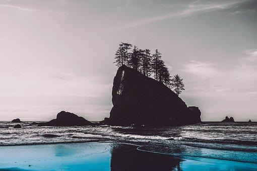 Sea, Roche, Ocean, Water, Beach, Nature