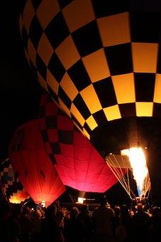 Hot Air Balloon, Moon Glow, Hot, Air, Balloon, Sky