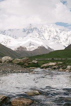 Mountain, Snow, Landscape, Nature, Sky, Mountains