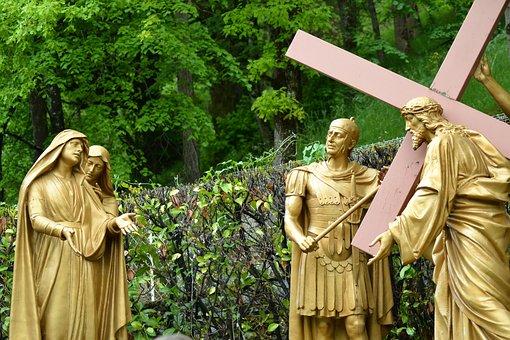 Statue, People, Centurion, Women, Mom, Jesus, Mary