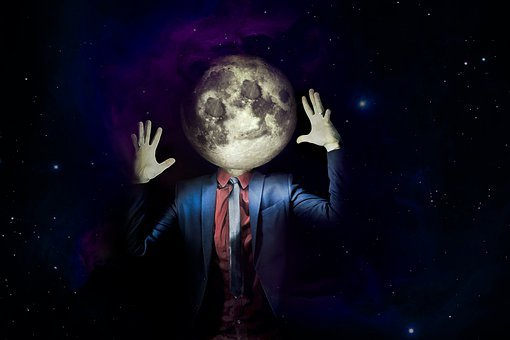 Moon, Moonman, Fantasy, Face, Mystical, Surreal, Magic