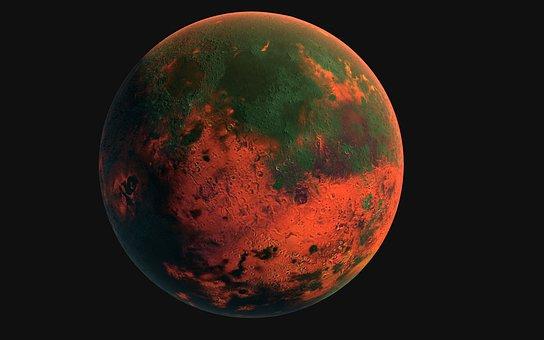 Moon, Lava, Space, Red, Sky, Luna, Universe, Planet
