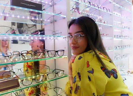 Eye Glasses, Glasses, Girl, Shop, Vision