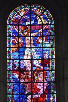 Stained Glass, Window, Church