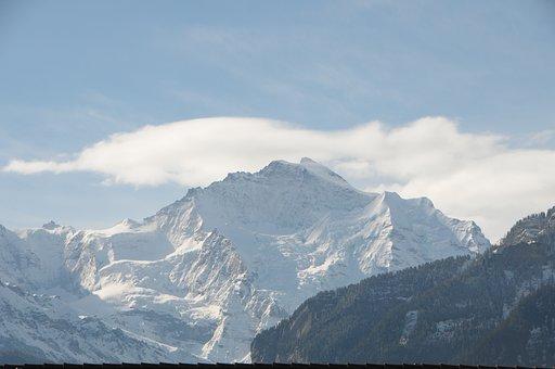 Mountain, Winter, Snow, Alpine