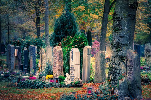 Cemetery, Forest, Woodland Cemetery, Grave