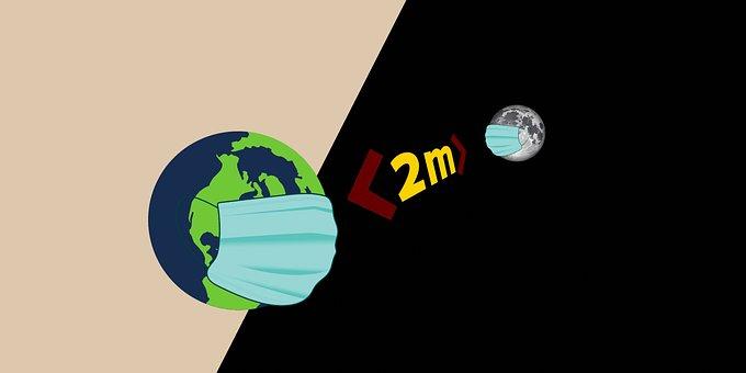 World, Moon, Funny, Metre, Mask, Distance, Corona