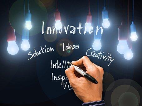 Innovation, Solution, Vision, Hand, Writing Pen
