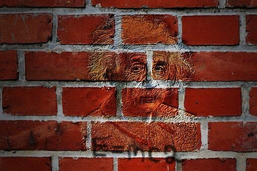 Wall, Albert Einstein, 1921, Portrait, Physicist