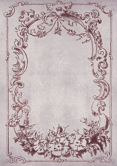 Vintage, Frame, Floral, Antique, Noble, Background