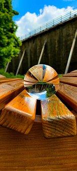 Chair, Lens, Lensball, Ball, Light, Sphere, Creative